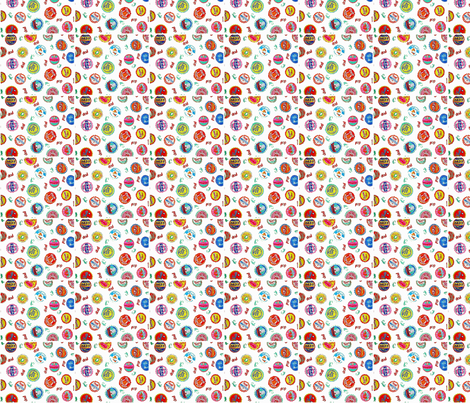Bottlecaps - multi fabric by bettieblue_designs on Spoonflower - custom fabric