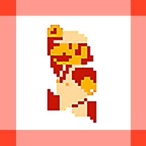 Red Mario Quilt Jump