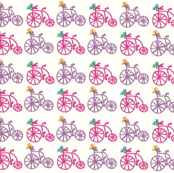 Bicycles in Pinks