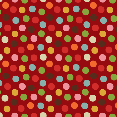 Candy_dots_red fabric by hoodiecrescent&stars on Spoonflower - custom fabric