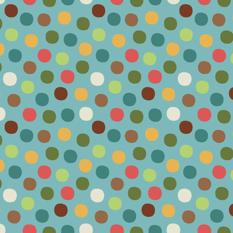 Candy_dot_aqua fabric by hoodiecrescent&stars on Spoonflower - custom fabric