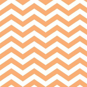 Chevron in Creamsicle