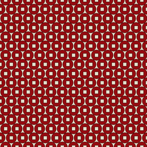 coin_Red fabric by hoodiecrescent&stars on Spoonflower - custom fabric