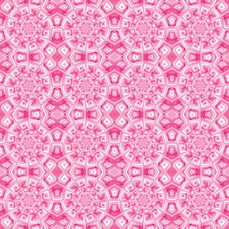 Pink Spiral Tile © Gingezel™ 2012 fabric by gingezel on Spoonflower - custom fabric