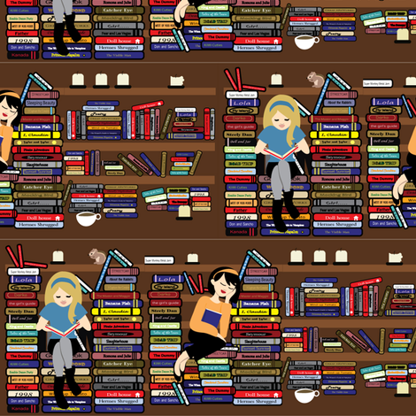 In the Library fabric by kiwicuties on Spoonflower - custom fabric