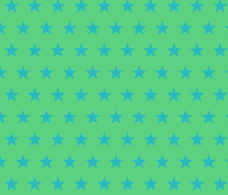 star blue green fabric by katarina on Spoonflower - custom fabric