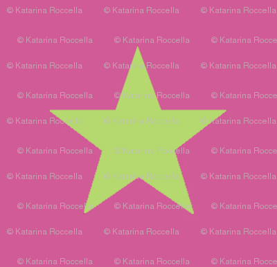 star pink green