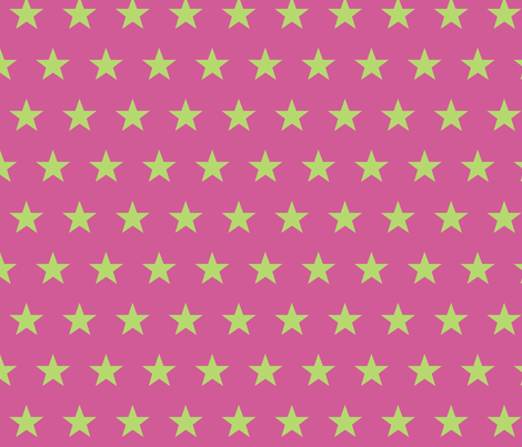 star pink green fabric by katarina on Spoonflower - custom fabric
