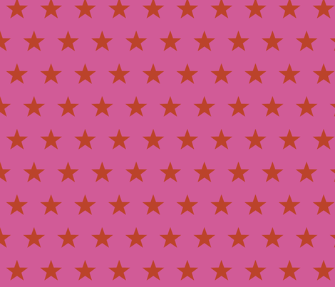 star pink fabric by katarina on Spoonflower - custom fabric
