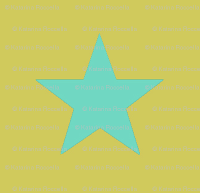 star yellow teal