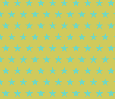 star yellow teal fabric by katarina on Spoonflower - custom fabric
