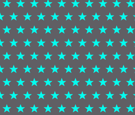 star grey aqua fabric by katarina on Spoonflower - custom fabric