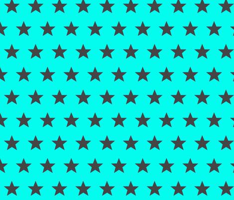 star aqua grey fabric by katarina on Spoonflower - custom fabric