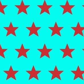 star aqua red