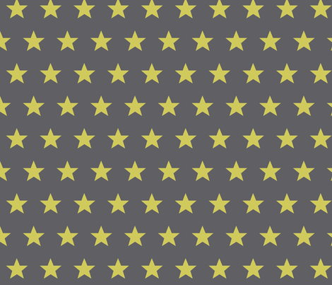 star grey yellow fabric by katarina on Spoonflower - custom fabric