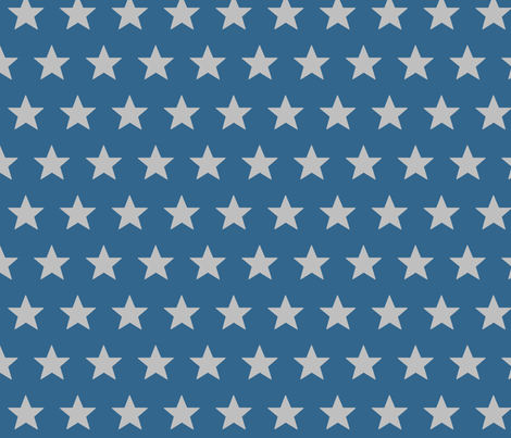 star blue grey fabric by katarina on Spoonflower - custom fabric