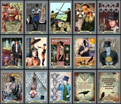 Men of Tarot - Prayer Flag Collection fabric by novelatelier on Spoonflower - custom fabric