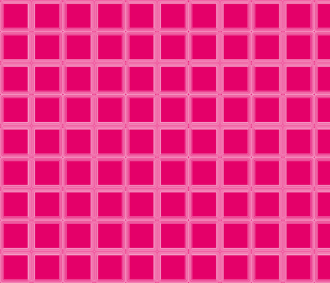 Deep Pink Windowpane © Gingezel™ 2012 fabric by gingezel on Spoonflower - custom fabric