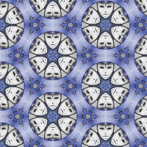 Winter Maskmoon fabric by siya on Spoonflower - custom fabric
