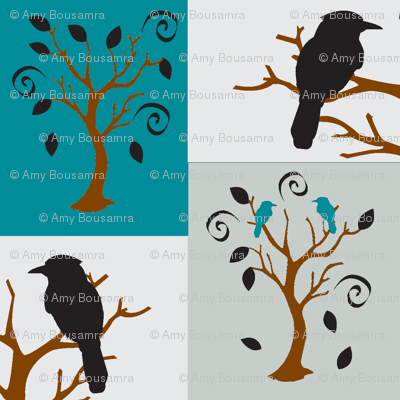 Sway tree bird-n-branch