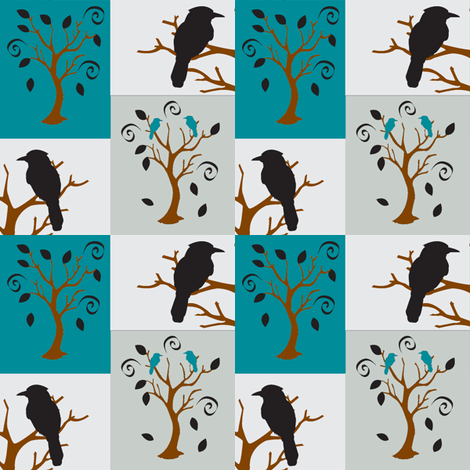 Sway tree bird-n-branch fabric by amy_frances_designs on Spoonflower - custom fabric