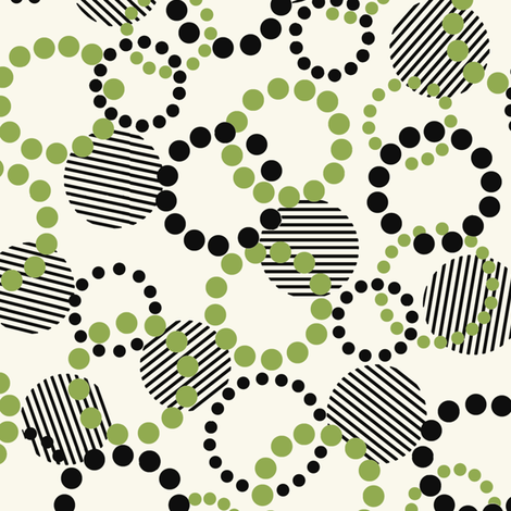 Fun_Dots_Green fabric by hoodiecrescent&stars on Spoonflower - custom fabric