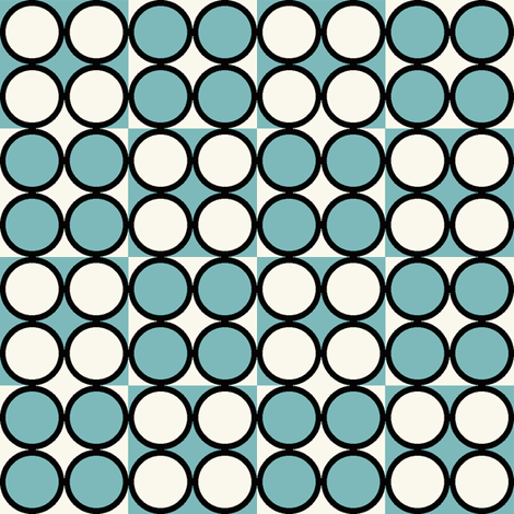 Spot_Aqua fabric by hoodiecrescent&stars on Spoonflower - custom fabric