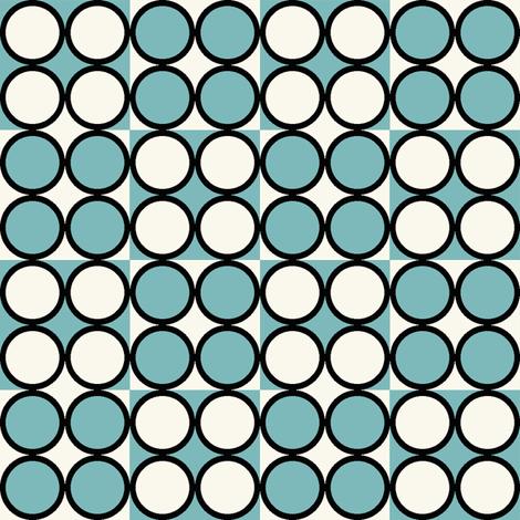 Spot_Aqua fabric by hoodiecrescent&stars on Spoonflower - custom fabric