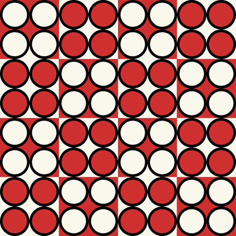 Spot_Red fabric by hoodiecrescent&stars on Spoonflower - custom fabric
