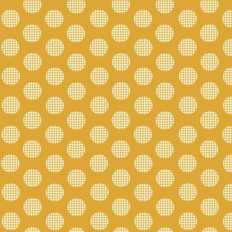 Waffle_yellow fabric by hoodiecrescent&stars on Spoonflower - custom fabric