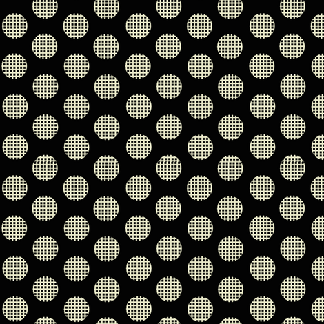Waffle_black fabric by hoodiecrescent&stars on Spoonflower - custom fabric
