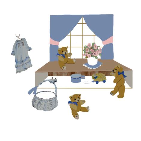 Teddy Bear Nursery fabric by karenharveycox on Spoonflower - custom fabric