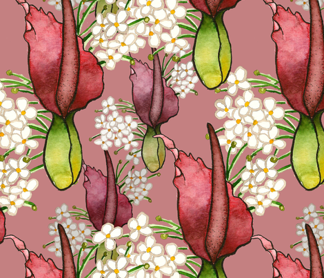 dragon_arum_pattern_image fabric by kaitlinspellz on Spoonflower - custom fabric