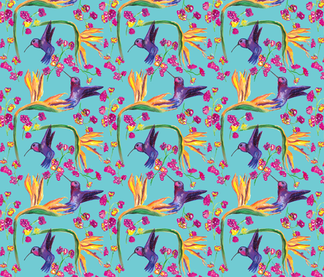 Hummingbird fabric by missjessm on Spoonflower - custom fabric