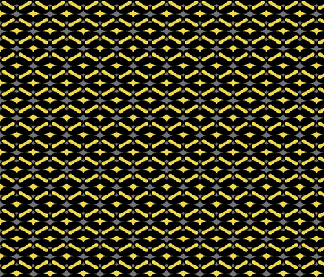 mustache repeat pattern yellow black fabric by katarina on Spoonflower - custom fabric