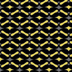 mustache repeat pattern yellow black