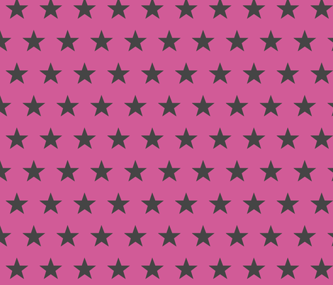 star pink grey fabric by katarina on Spoonflower - custom fabric