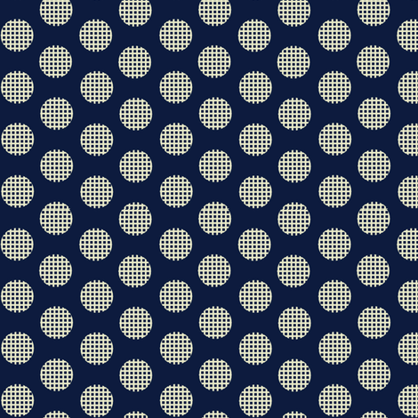 Waffle_Navy fabric by hoodiecrescent&stars on Spoonflower - custom fabric