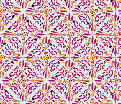 Leaves and Berries by 4 Twist - First Frost fabric by glimmericks on Spoonflower - custom fabric