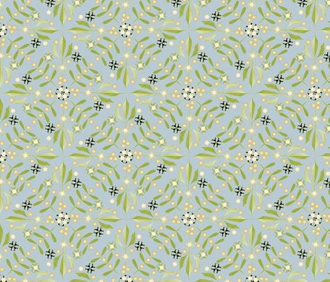 Leaves and Berries by 4 Twist - Early Summer fabric by glimmericks on Spoonflower - custom fabric