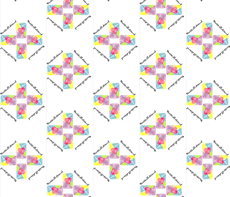 Quilt Block Hearts all Around fabric by anniezs on Spoonflower - custom fabric