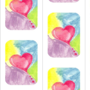 Hearts all Around Tile with no text
