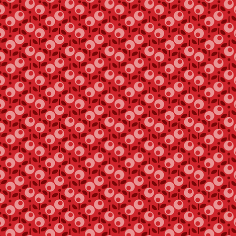 Bell_Dot_Red fabric by hoodiecrescent&stars on Spoonflower - custom fabric