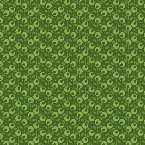 Bell_Dot_green fabric by hoodiecrescent&stars on Spoonflower - custom fabric