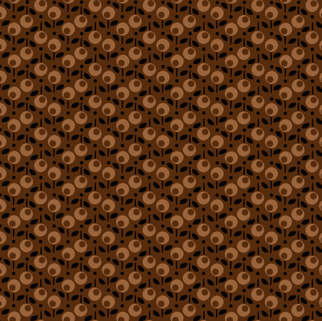 Bell_Dot_Brown fabric by hoodiecrescent&stars on Spoonflower - custom fabric