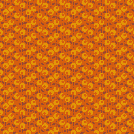 Bell_Dot_Orange fabric by hoodiecrescent&stars on Spoonflower - custom fabric