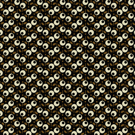 Bell_Dot_Black fabric by hoodiecrescent&stars on Spoonflower - custom fabric