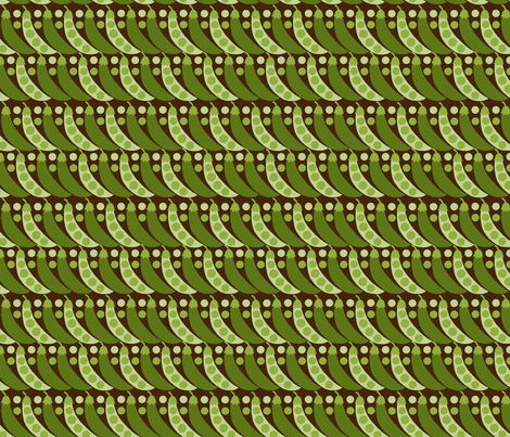 Peas fabric by hoodiecrescent&stars on Spoonflower - custom fabric