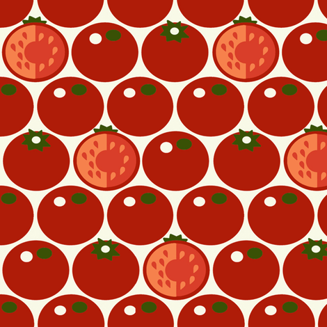 Tomato fabric by hoodiecrescent&stars on Spoonflower - custom fabric