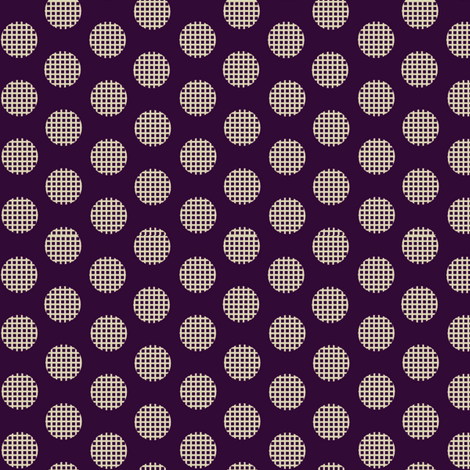 Waffle_Eggplant fabric by hoodiecrescent&stars on Spoonflower - custom fabric